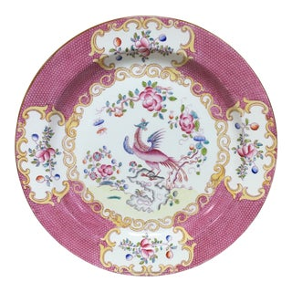 Minton Cockatrice Pink Round Serving Plate For Sale