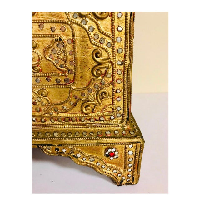 Giltwood 1950s Giltwood Jeweled Box For Sale - Image 7 of 12