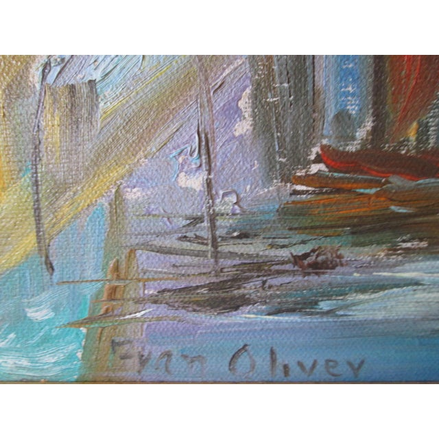 Abstract Fran Oliver Modern Seascape Painting For Sale - Image 3 of 6