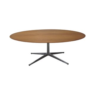 "Florence Knoll Vintage 78"" Oval Walnut Table Desk For Sale"