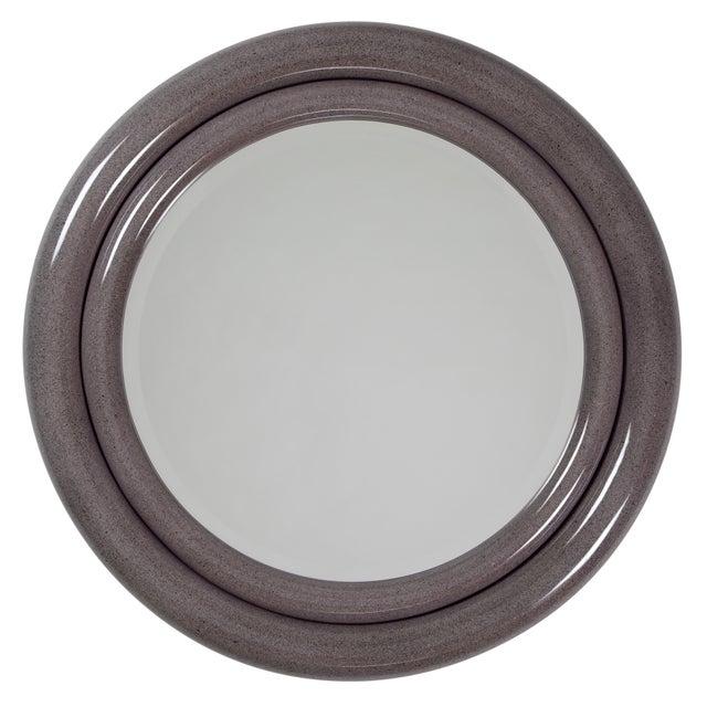 """1980's Vintage Karl Springer """"Double Bullseye"""" Mirror For Sale - Image 12 of 12"""