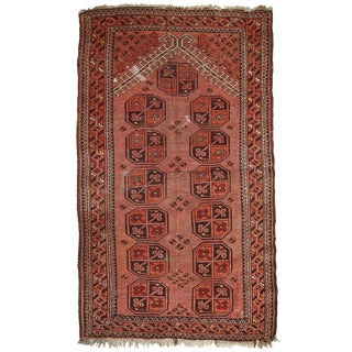 1930s, Handmade Antique Afghan Baluch Prayer Rug 2.9' X 4.9' For Sale