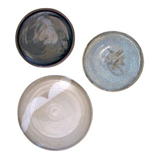 Studio Pottery Plates, Set of 3 For Sale