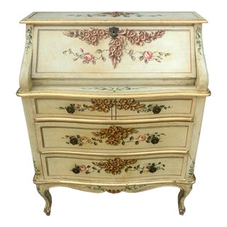 Italian Louis XV Style Painted Desk