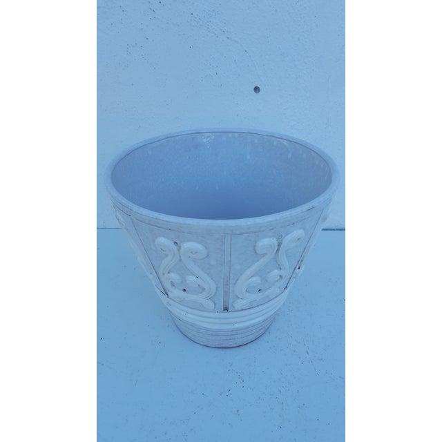 Mid-Century Modern Italian Ceramic Planter Pot For Sale - Image 3 of 9