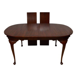 Henkel Harris Solid Cherry Queen Anne Style Dining Table