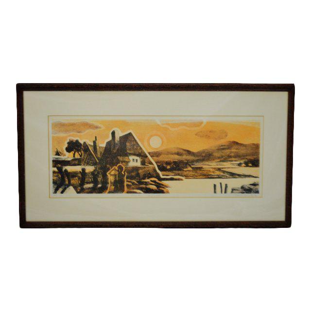 Vintage Framed Limited Edition Landscape Serigraph - Signed and Numbered For Sale