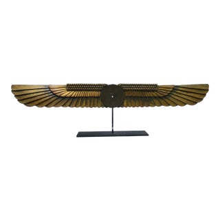 1920s Vintage Egyptian Winged Sun Architectural Detail For Sale