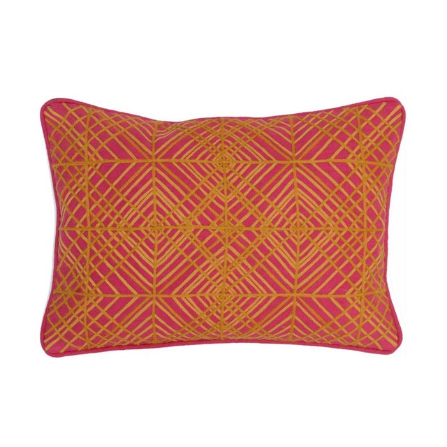Geometric Fuschia 14 X 20 Pillow - Image 2 of 2