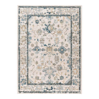 Peyton Monte Traditional Oriental Cream Rectangle Area Rug - 5' x 8'
