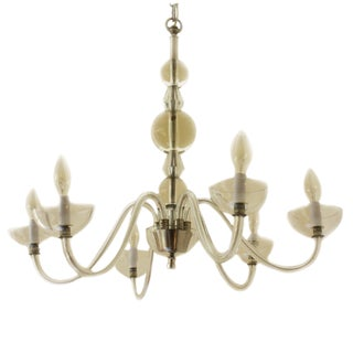 French Chandelier in the Style of Jacques Adnet, C. 1940