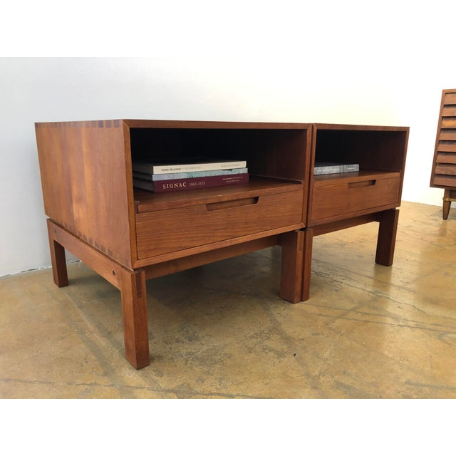 Mid 20th Century Danish Nightstands by Johannes Aasbjerg - a Pair For Sale - Image 5 of 8