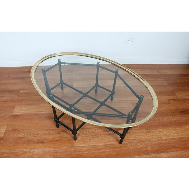 Bamboo Base Coffee Table - Image 8 of 10