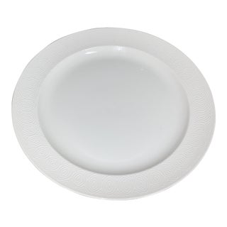 Vintage Danish Modern Royal Copenhagen White Chop Plate by Axel Salto For Sale