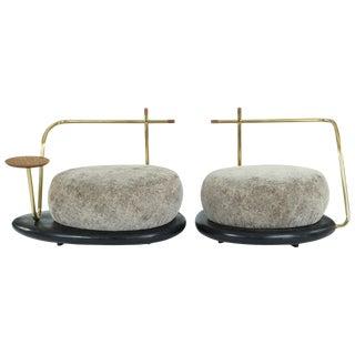 Pair of Zen Pouffes, Misaya For Sale