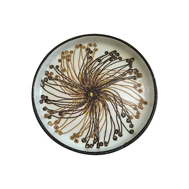 Danish Abstract Flower Dish - Image 2 of 4