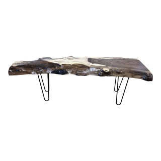 High Gloss Live Edge Cocktail Table For Sale
