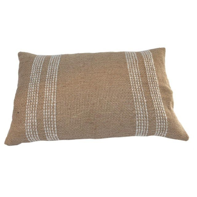 2010s Jute Pillows For Sale - Image 5 of 5