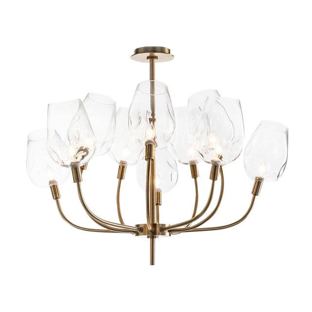 Mid Century Ten Light Chandelier For Sale