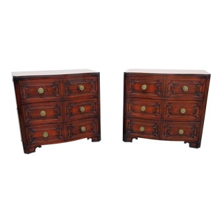 Vintage Mid Century Grosfeld House Commodes- A Pair For Sale