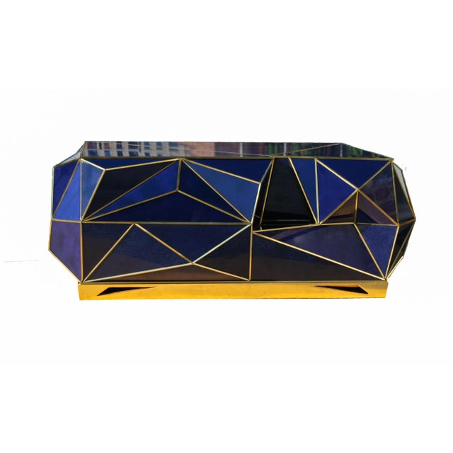 Not Yet Made - Made To Order Ploytope Coffee Table in Cobalt by MarGian Studio For Sale - Image 5 of 10
