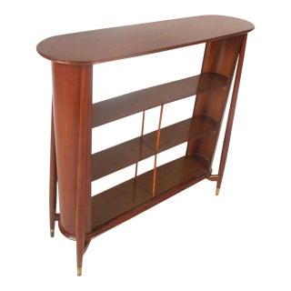 Vintage Modern Walnut Shelf or Telephone Table For Sale