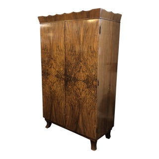 Early 20th Century Lingel Walnut Armoire For Sale