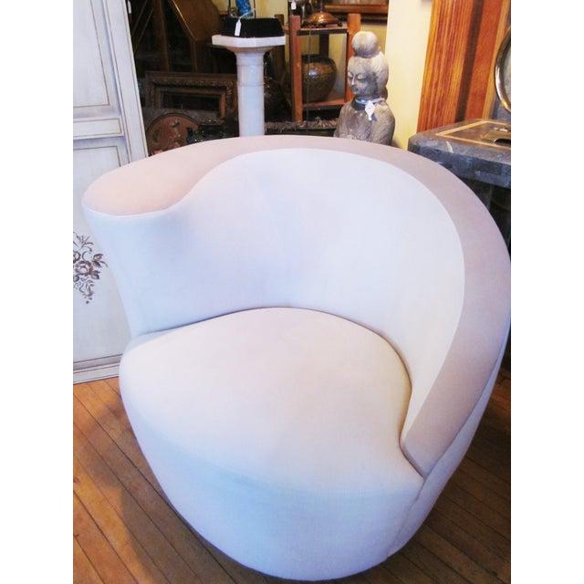 1980s 1980s Vintage Vladimir Kagan Nautilus Swivel Chairs- A Pair For Sale - Image 5 of 12