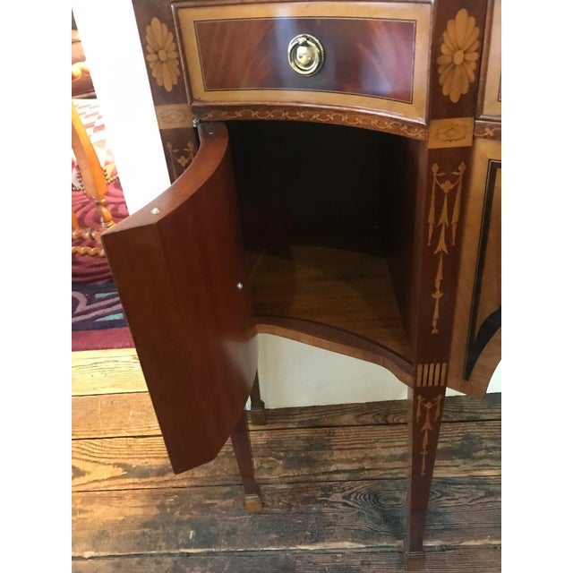 Wood 1980s Italian Colombo Mobili Superb Ornately Inlaid Mixed Wood Console For Sale - Image 7 of 11