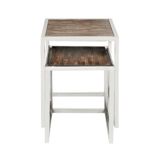 Rustic Verel Nesting Table Set - 2 Pieces For Sale
