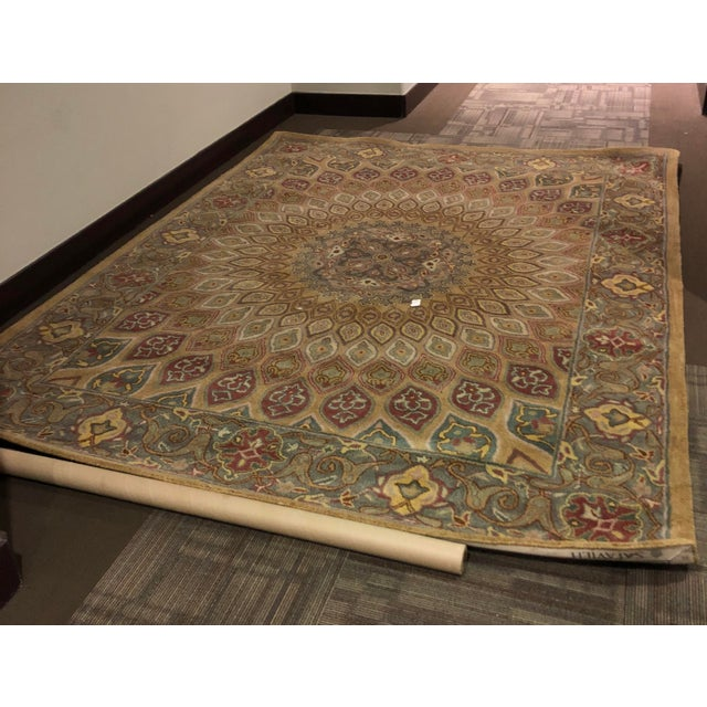 Safavieh Heritage Wool Hand Tufted Light Brown Grey Rug - 7'6 X 9'6 For Sale - Image 5 of 8