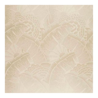 Coco De Mer White Gold Drapery Upholstery Fabric by Ralph Lauren Fabrics- 2 Yards For Sale