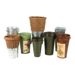Planter and Vase Collection - Set of 10 For Sale