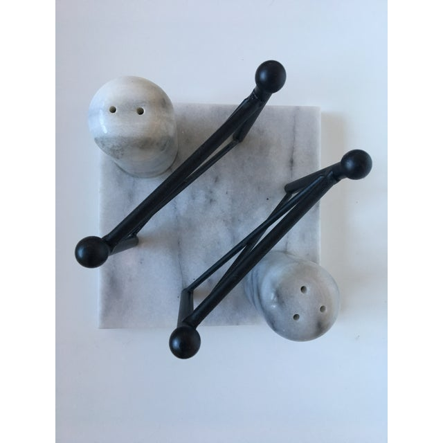 Carrera Marble Salt & Pepper Shakers with Napkin Stand - Image 2 of 6