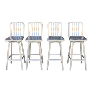 1980s Vintage Aluminum Barstools- Set of 4 For Sale