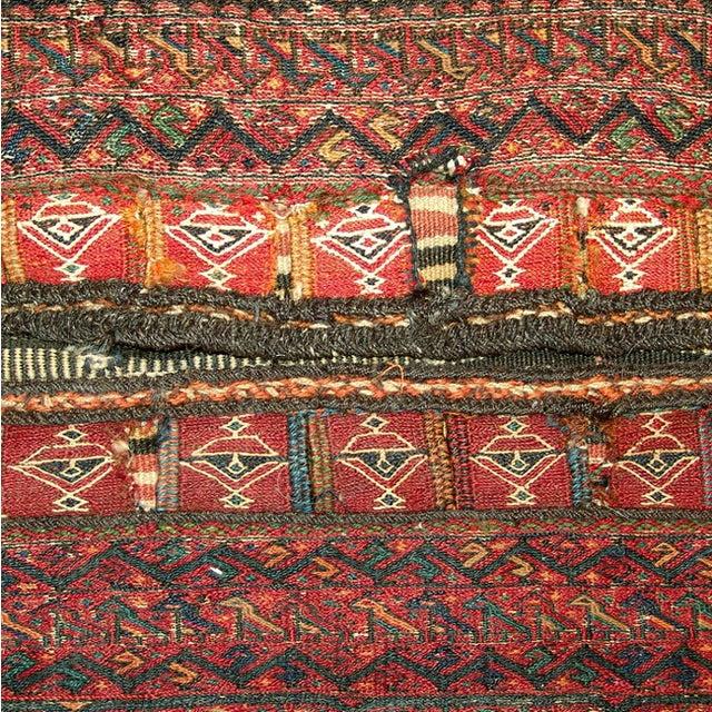 Old Persian Bakhtiari Soumak Khorjin Saddle Bag - Image 5 of 10