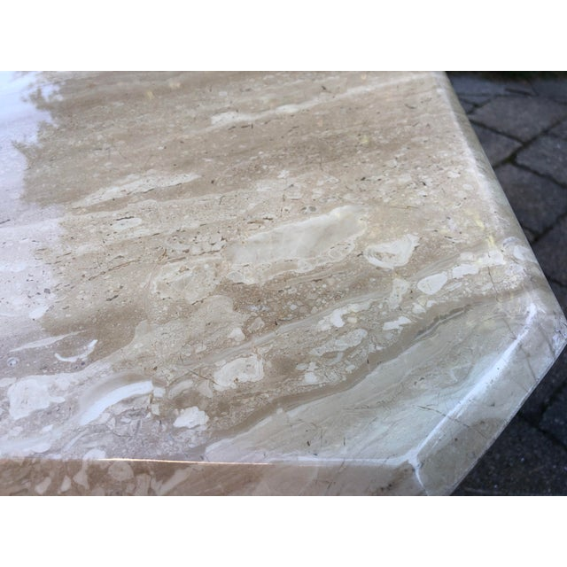 Art Deco Italian Travertine Coffee Table For Sale - Image 10 of 13