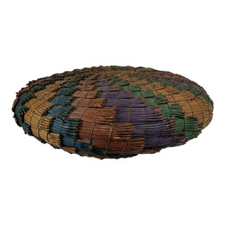 Mid-Century African Woven Basket For Sale