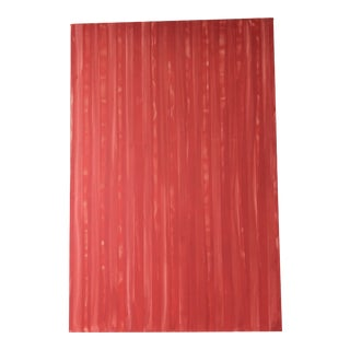 Vintage Large Scale Abstract Red Painting For Sale