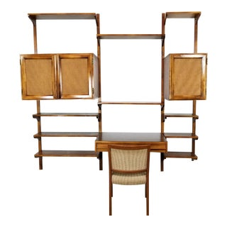 1960s Vintage Danish Convertible Wall Unit & Chair For Sale