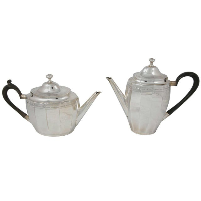 Metal Coffee and Tea Pot Set For Sale - Image 7 of 7