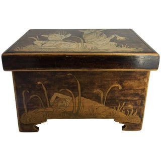 1900s Aesthetic Movement Trinket Box For Sale