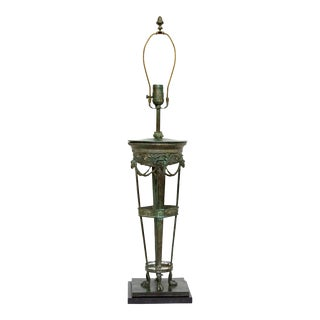 Grand Tour Style Bronze Table Desk Lamp For Sale