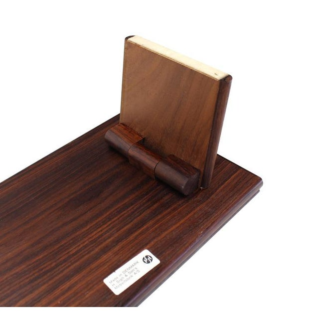 Folding Legs Serving Tray Rosewood and Tile Top, Denmark For Sale - Image 9 of 10