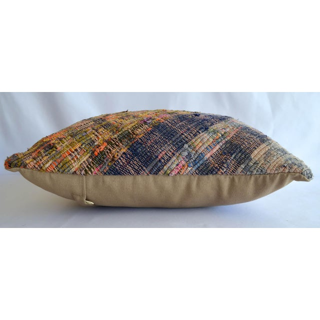 """Dimension: 16"""" x 16"""" Material : Cotton cotton. Made from vintage Turkish ragrug kilim. Back side cotton with hidden..."""