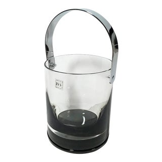Modernist Italian I V V Selezione Glass Ice Bucket For Sale