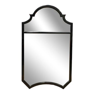 Gina B Ebonized Queen Anne Style Designer Mirror For Sale