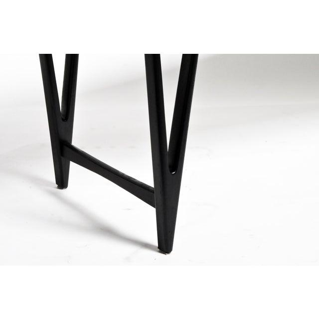 Mid Century Modern Painted Black Teakwood Coffee Table For Sale - Image 12 of 13