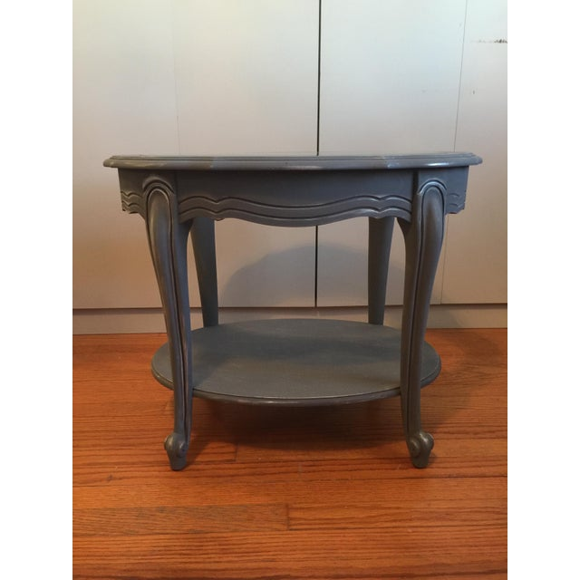 Painted Glass Top Side Table - Image 2 of 7