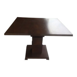 Mid Century Style Walnut Table For Sale
